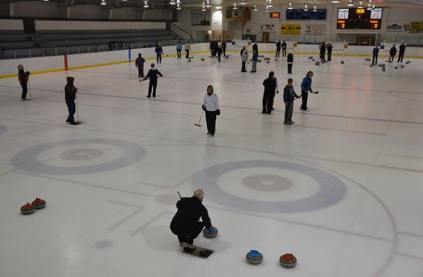 Lobster Trap Bonspiel on arena ice @ Eastern Kings Sportsplex | Souris | Prince Edward Island | Canada