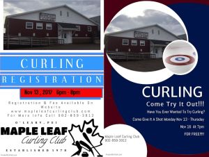 Curling season getting underway at O'Leary's Maple Leaf club