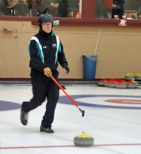 Silver Fox holding Stick Curling demo on Thursday