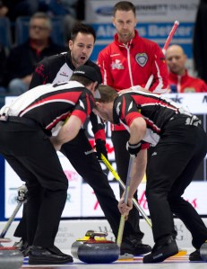 Final Four set at Tim Hortons Brier. Gushue vs. Ont. in Page 1-2 (Curling Canada)