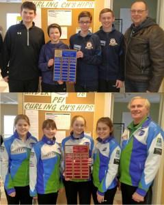 Mitchell Schut and Lauren Ferguson rinks win PEI Under 16 championships