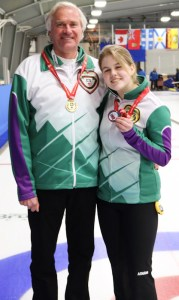 Team Ferguson coach, skip win Mixed Doubles medals at Canadian U18 Ch'ships (Curling Canada)