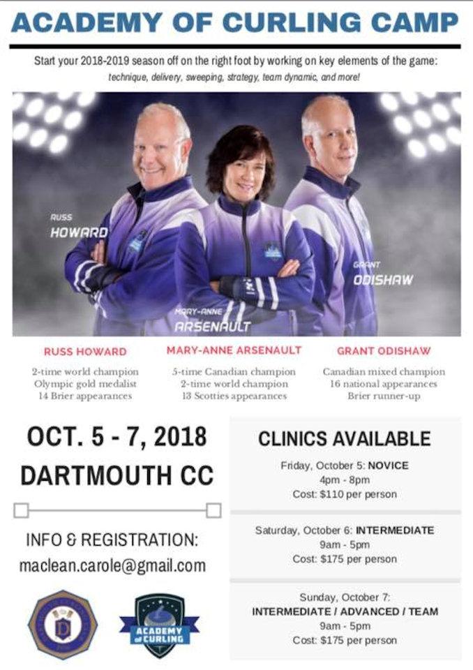 Academy of Curling Camps @ Dartmouth Curling Club | Dartmouth | Nova Scotia | Canada