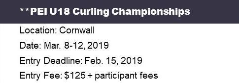 PEI Under 18 (U18) Curling Ch'ships @ Cornwall Curling Club