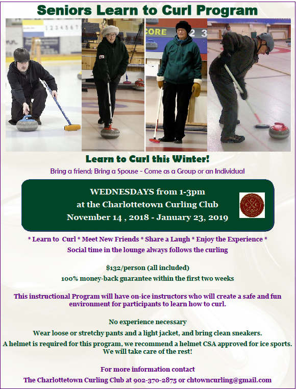 Seniors Learn to Curl: Ch'town @ Charlottetown Curling Complex | Charlottetown | Prince Edward Island | Canada