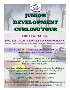 Curl PEI announces Junior Development Curling Tour, beginning in January