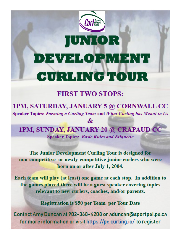 Junior Dev't Curling Tour - Stop Number Two @ Crapaud Community Curling Club