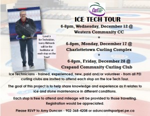 Reminder: Curl PEI Ice Tech Tour Stop 1 is Wednesday. Date added for 3rd Stop.