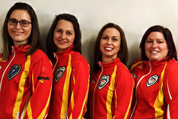 Islander Alison Griffin on Team Nunavut at this year's Scotties in Sydney NS (Curling Canada)