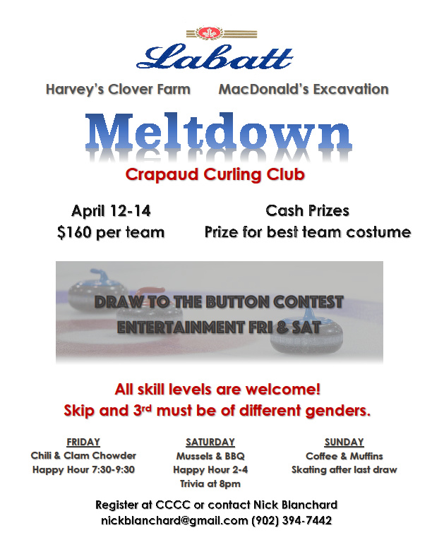 Labatt Meltdown Funspiel @ Crapaud Community Curling Club