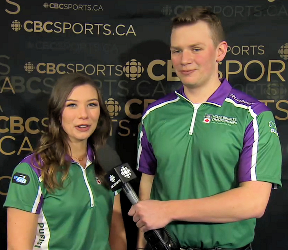 O'Connor/Abraham lose 8-3 to Cameron/Carruthers. PEI native Alison Griffin on livestream at 4 pm
