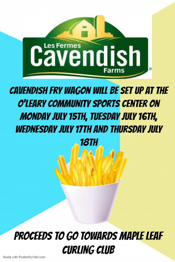 Cavendish Farms fry sale during Potato Blossom Festival in support of MLCC @ O'Leary Community Sports Centre | O'Leary | Prince Edward Island | Canada