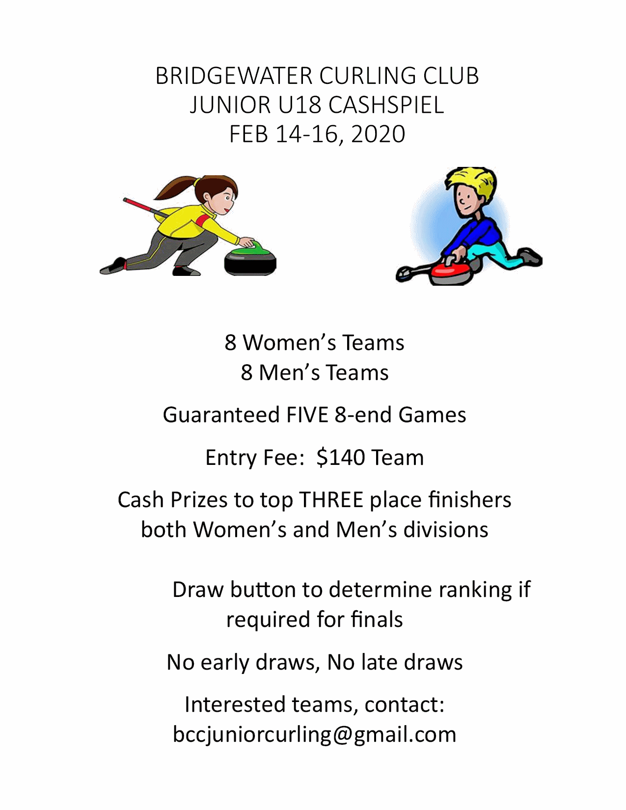 Bridgewater U18 Cash Spiel @ Bridgewater Curling Club