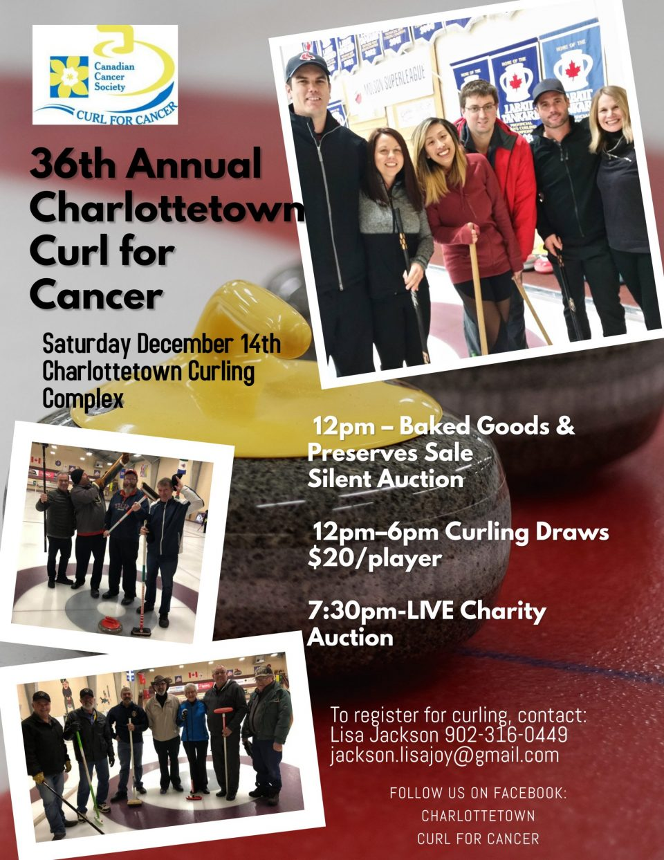 36th annual Charlottetown Curl for Cancer @ Charlottetown Curling Complex