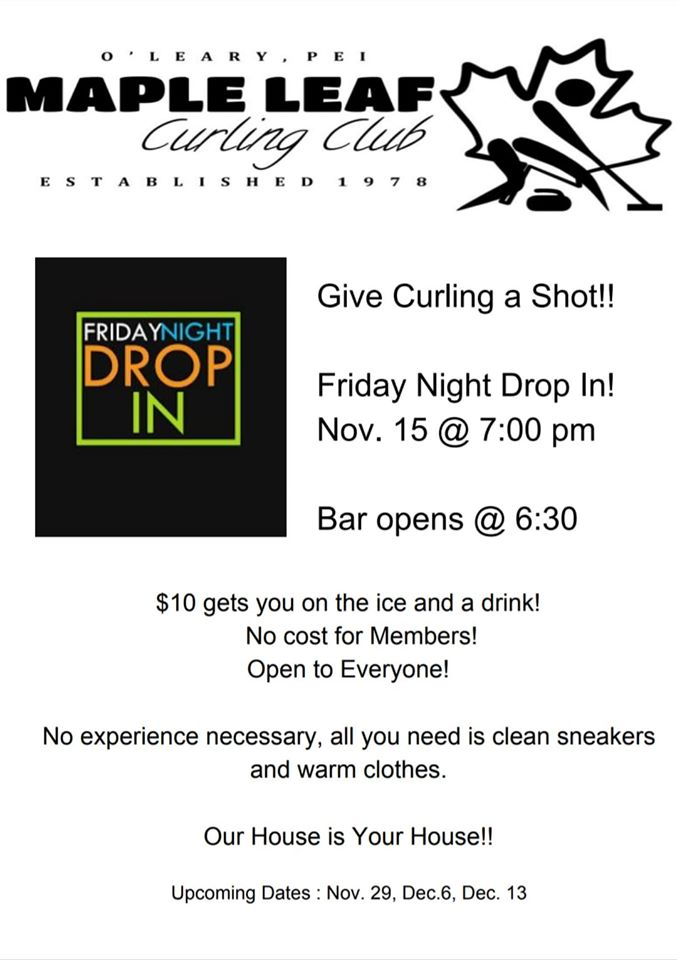 Friday Night Drop-In curling at the Maple Leaf @ Maple Leaf Curling Club