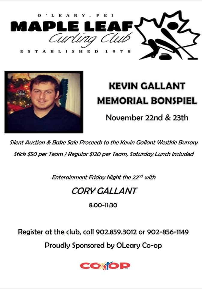 Kevin Gallant Memorial Bonspiel @ Maple Leaf Curling Club