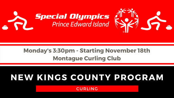 Special Olympics Curling Kings Co. start date @ Montague Curling Rink