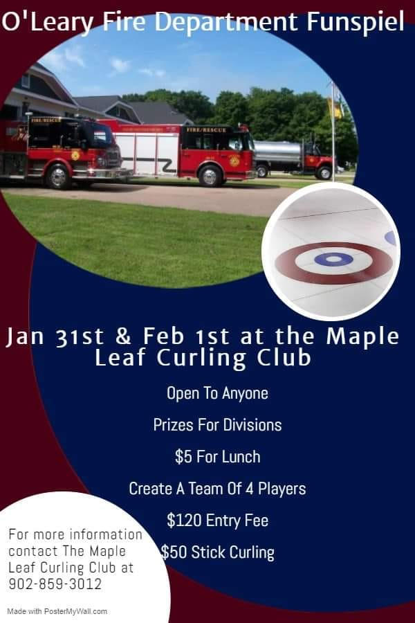 O'Leary Fire Dept. Funspiel @ Maple Leaf Curling Club