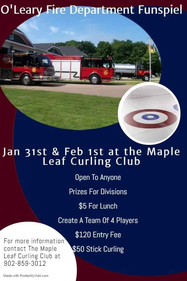 O'Leary Fire Dept. Funspiel @ Maple Leaf Curling Club