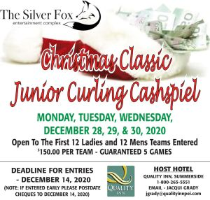 Christmas Classic Junior Cashspiel @ Silver Fox Curling and Yacht Entertainment Complex