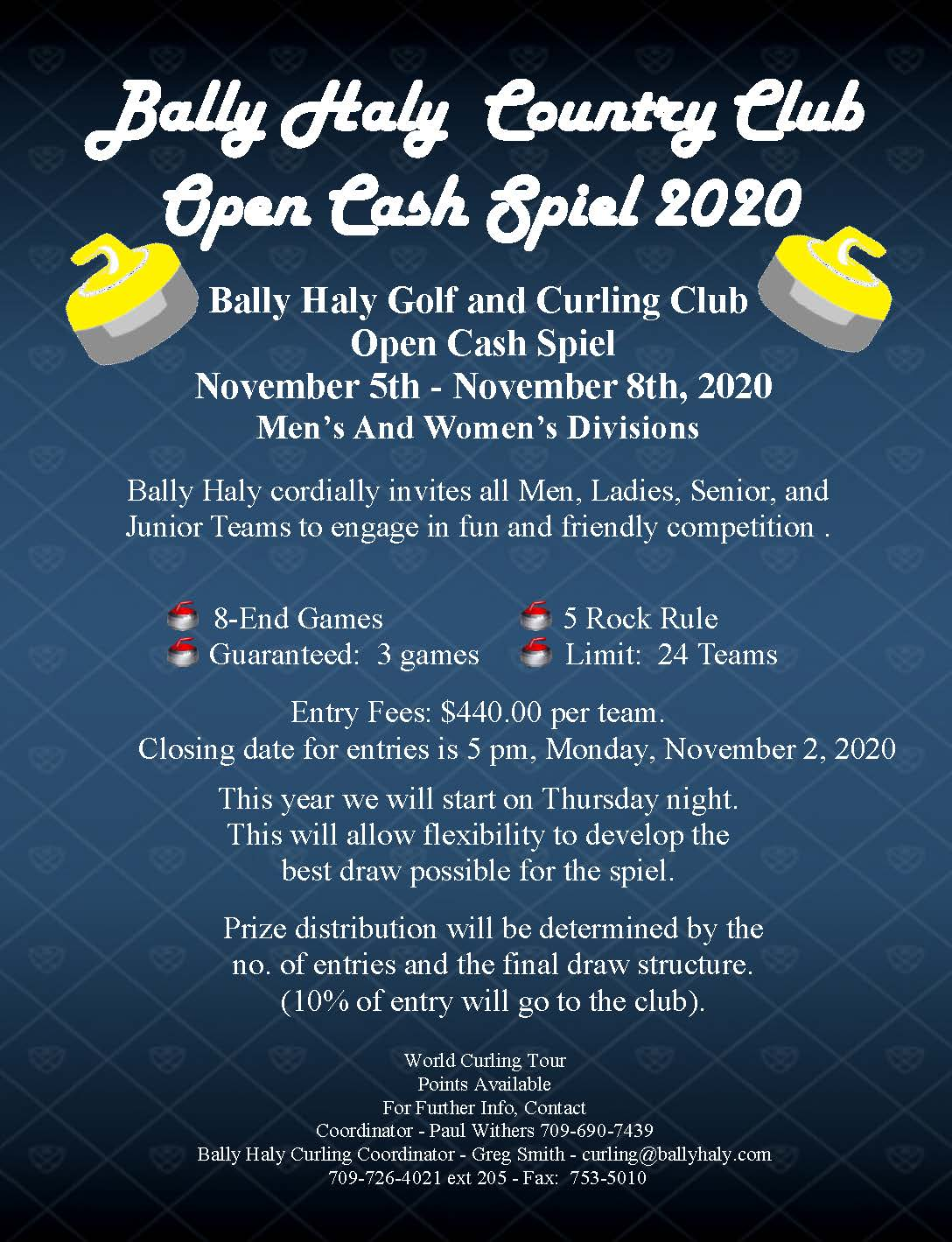 Bally Haly Open Cashspiel @ Bally Haly Country Club