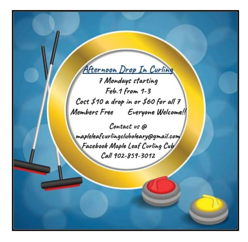 Drop-in Afternoon Curling (7 weeks) @ Maple Leaf Curling Club
