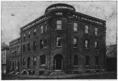 Photograph of the third incarnation of the Journal Printing Office, built in 1895/6 following a devastating fire. Located at the corner of Water and Queen Streets, it looks much the same today.