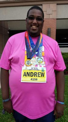 3 medals around neck - at andrew_paris