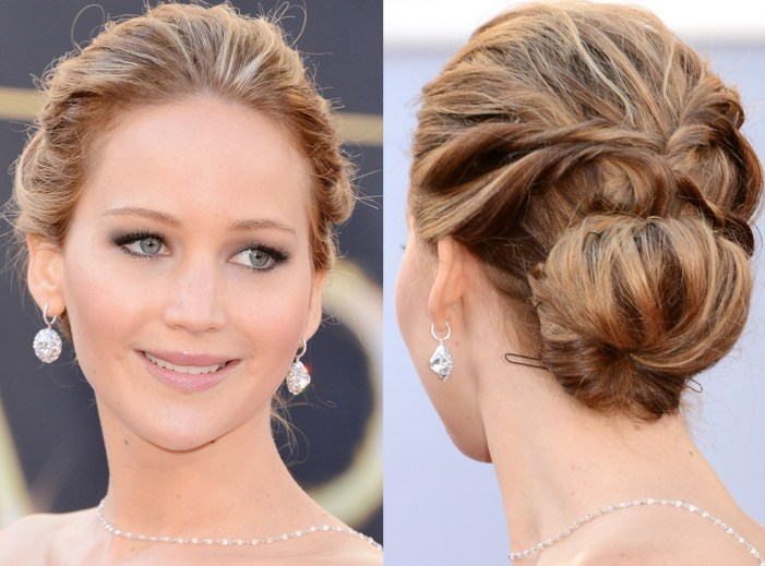 Jennifer Lawrence Oscar's 2013 Updo