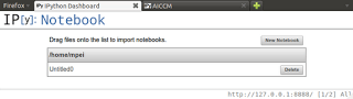 IPython adds Web Interface to Python Programs  or  HowTo Run AICCM (ab initio Cyclic Cluster Model) from a Webbrowser