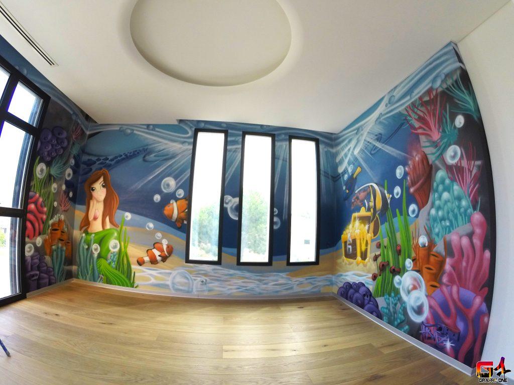 Graffiti chambre enfant  Graffeur a domicile  Graffit One