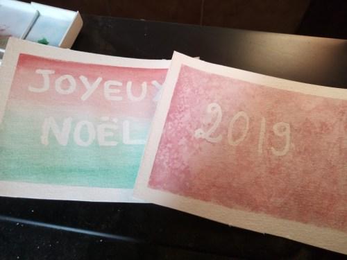 cartes de noël au drawing gum