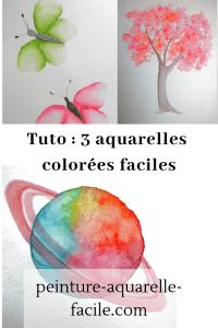 Aquarelles colorées pour Pinterest