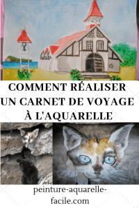 Carnet de voyage à l'aquarelle