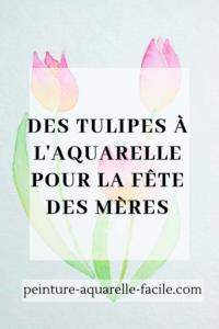 Tulipes à l'aquarelle pour Pinterest