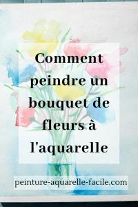 Bouquet de fleurs à l'aquarelle pour Pinterest