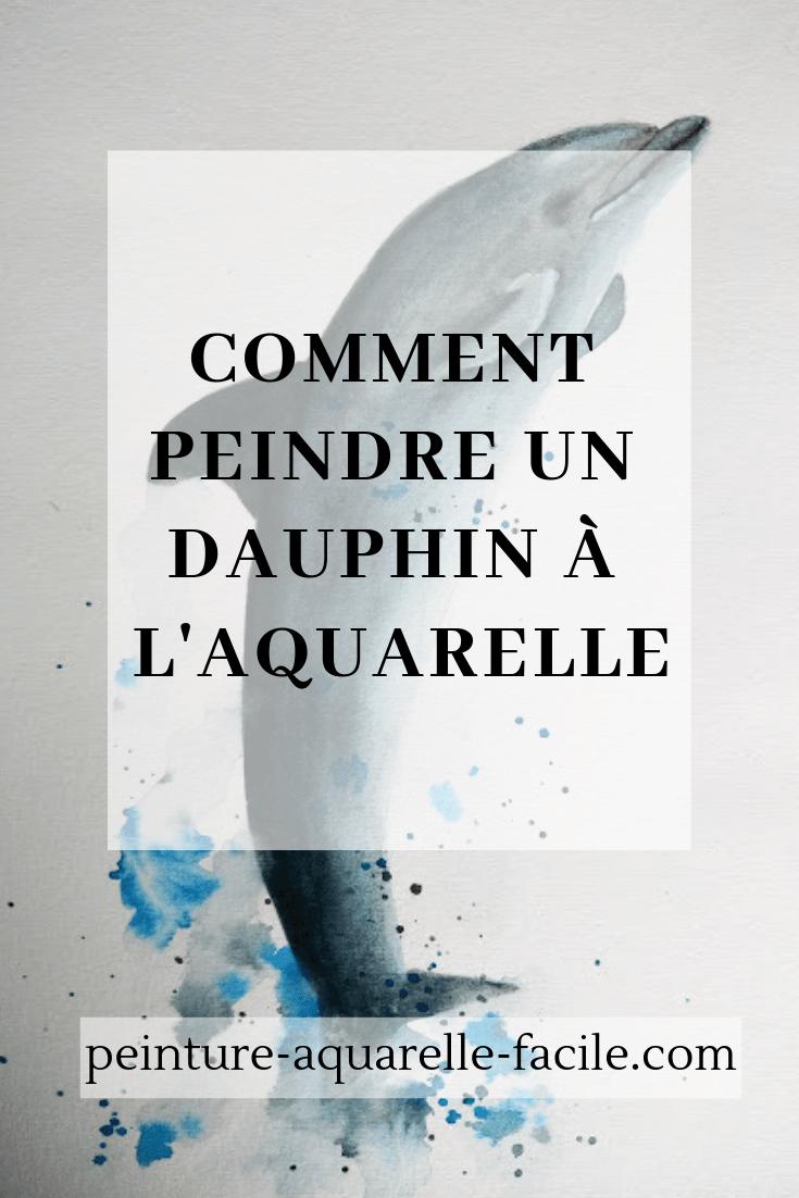Dauphin à l'aquarelle pour Pinterest