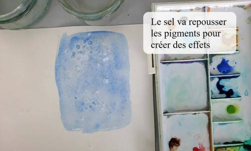 Du sel pour créer des effets de texture à l'aquarelle