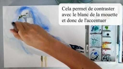 Peindre le fond en bleu