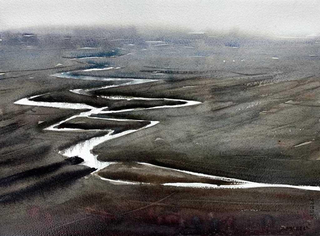 Rivière à l'aquarelle par Rémy Lach