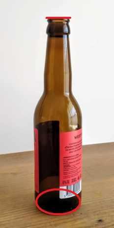 ellipses de la bouteille