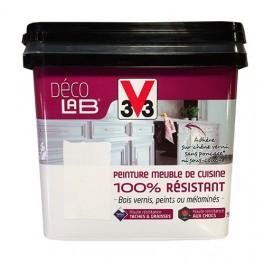 v33 deco lab peinture meuble de cuisine 100 resistant blanc