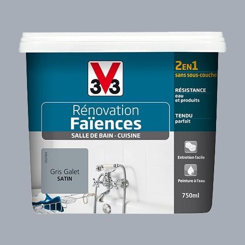 v33 renovation faiences gris galet satin de la marque v33