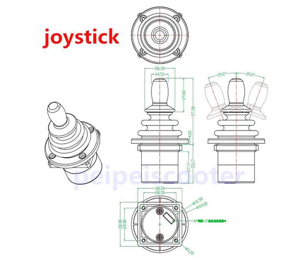 electric wheelchair diy kit Part Joystick for controller