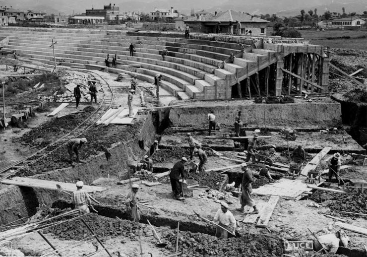 Ndërtimi i stadiumit në kryeqytet, 14 maj 1940