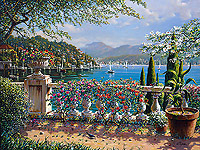terrace in bellagio