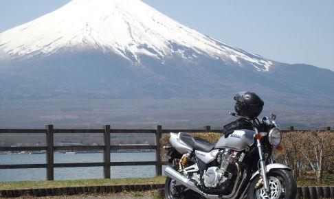 XJR1300と富士山