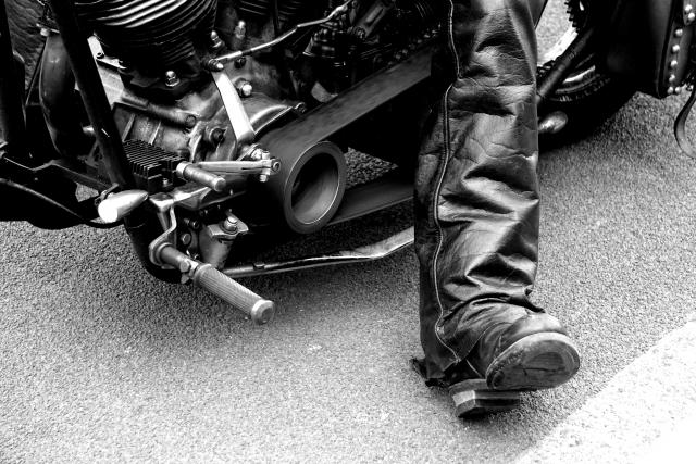 バイク用のブーツ