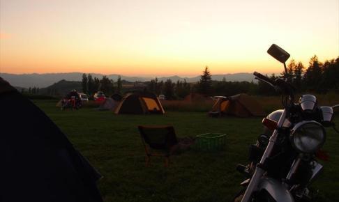星に手のとどく丘キャンプ場の夕焼け