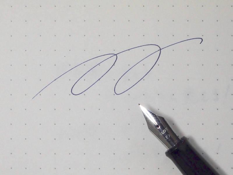 万年筆の書き心地